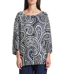 escada women's nemila paisley silk tunic - fantasy - size 38 (8)