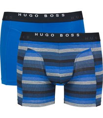 hugo boss boxer brief 2-pack stripe-blauw