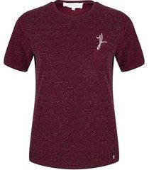 lurex t-shirt met jacky borduursel