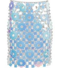iridescent flower chain disk skirt