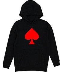 moletom criativa urbana poker masculino