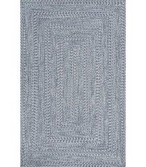 nuloom texture braid doutzen indoor and outdoor blue 6' x 9' area rug