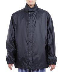 balenciaga navy rain jacket