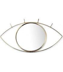lustro metalowe oko złote