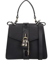 chloé aby small hand bag in black leather