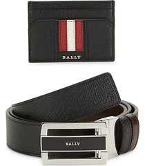 2-piece leather belt & wallet gift set