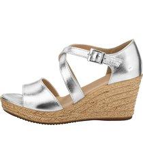 sandaletter klingel silverfärgad