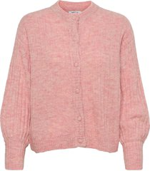deanna alpaca rib cardigan stickad tröja cardigan rosa moss copenhagen