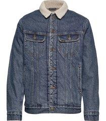 sherpa jacket jeansjack denimjack blauw lee jeans