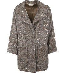 brunello cucinelli sequin all-over coat