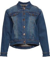 jacket, long sleeve jeansjacka denimjacka blå zizzi