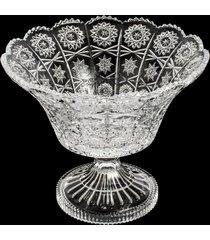 centro de mesa de cristal com pé navan 26x22cm – linha starry