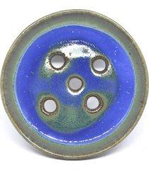 lazurowa mydelniczka ceramiczna