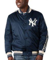 starter new york yankees men's orginator satin jacket