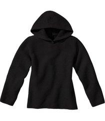 pullover met capuchon, zwart 36