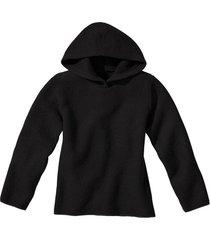 pullover met capuchon, zwart 40