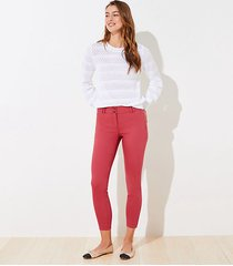 loft double button skinny ankle pants in curvy fit