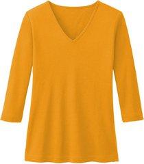 enna biokatoenen shirt met v-hals en 3/4 mouwen, mango 34