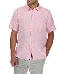 camisa lino hombre linenshort rosa rockford