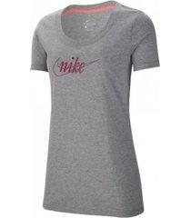 camiseta gris nike tee glitter lifestyle ci9365-063
