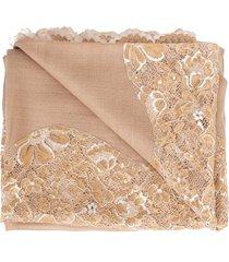 natural chantilly center panel shawl