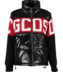 gcds full zip padded jacket