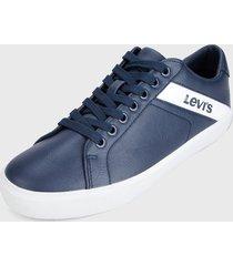tenis azul navy-blanco levis