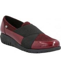 zapato de vestir slip on cuero mujer adamina burdeo hush puppies