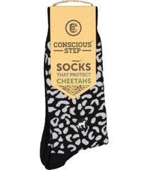 conscious step women's socks that protect cheetahs