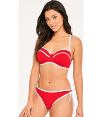 paint the town underwire bandeau bikini top
