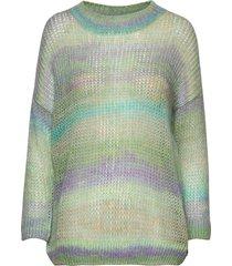 sweater in o-neck w. short sleeves gebreide trui groen coster copenhagen