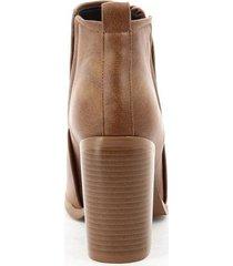 botines para mujer marca via spring color café via spring - marrón