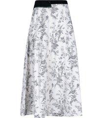 a-line flower skirt