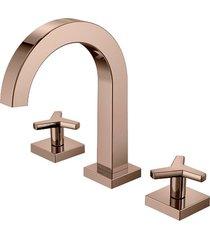misturador para banheiro mesa city cobre polido - docol - docol