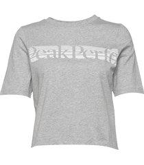 w bounce printed tee t-shirts & tops short-sleeved grå peak performance
