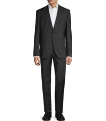 boss hugo boss men's marzotto johnston/lenon regular-fit virgin wool suit - dark grey - size 40 l
