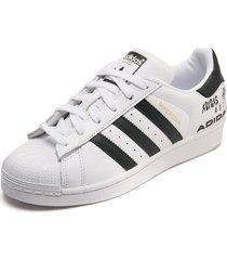 tenis lifestyle blanco-negro adidas originals superstar w