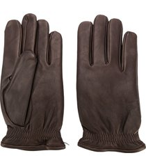 orciani perfectly fitted gloves - brown