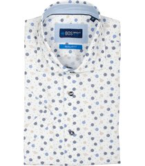 bos bright blue leo overhemd korte mouw rf 21107le44bo/500 multicolour