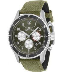 reloj invicta 31284 verde nylon hombre