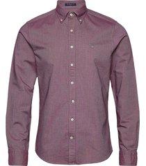slim oxford shirt bd skjorta business röd gant
