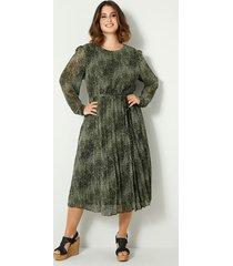 maxi-jurk sara lindholm groen::zwart