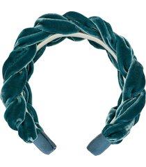 jennifer behr lorelei velvet headband - blue