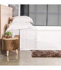 jogo de cama 300 fios casal bordado inglês toque acetinado style - tessi