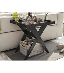 mesa lateral sweet preto - líder design