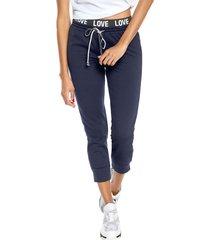 pantalón azul-negro-blanco active