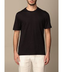 ermenegildo zegna t-shirt ermenegildo zegna t-shirt in pure linen