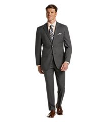 1905 collection tailored fit tic weave oraganica® wool men's suit with brrr°® comfort - big & tall by jos. a. bank