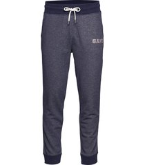 d1. graphic jersey pants sweatpants mjukisbyxor blå gant