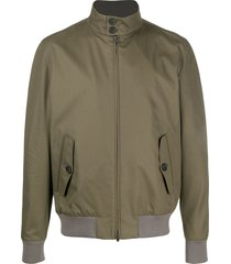 herno funnel-neck zipped jacket - green